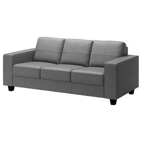 Ikea Sofa Leather Skogaby Three Seat Sofa Glose Bomstad Grey Ikea
