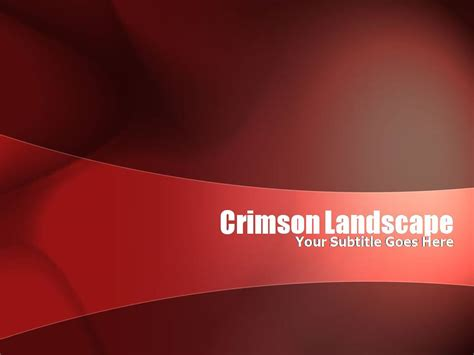 template powerpoint landscape crimson landscape templates for powerpoint presentations