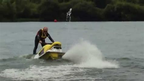 water scooter tricks waveblaster 760 jet ski sub trick crash fail pwc youtube