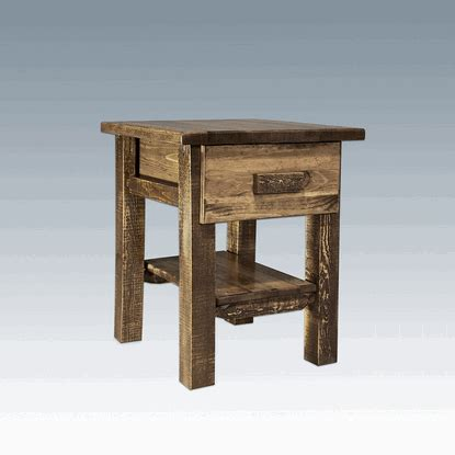 Nadine Collection Nightstand Amish Crafted - amish quot homestead quot pine nightstand 1 drawer