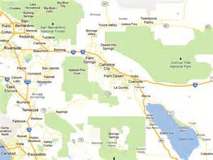 map of palm springs area of california motorhomes for rent in palm springs