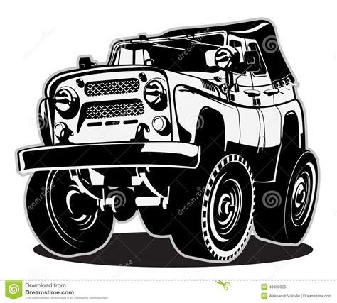 cartoon jeep front cartoon jeep stock vector image of motor cool front
