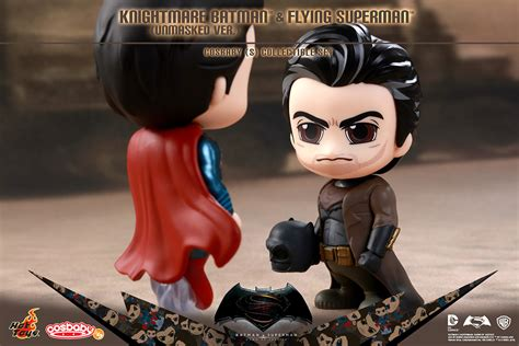 Toys Bvs Batman Superman knightmare batman and flying superman cosbaby collectible
