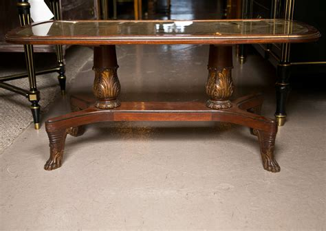Mahogany And Glass Coffee Table Gilt Glass Top Mahogany Coffee Table Sted Jansen At 1stdibs