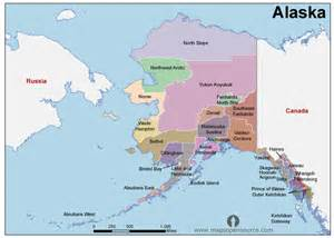 where is alaska on the map of the united states free alaska counties map counties map of alaska state