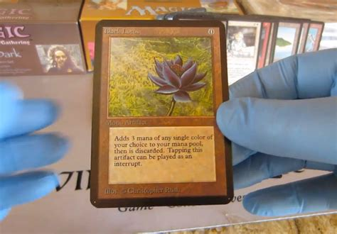 magic the gathering alpha black lotus lucky finds 30 000 black lotus magic the gathering