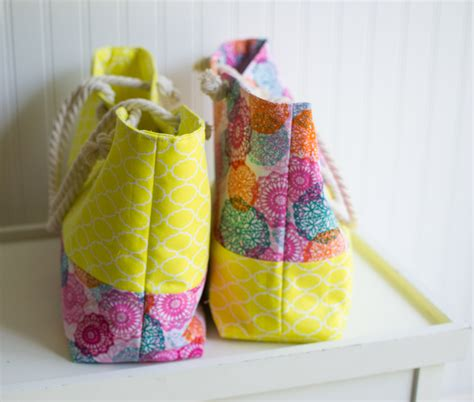 rope handled tote easy tutorial sewcanshe free daily