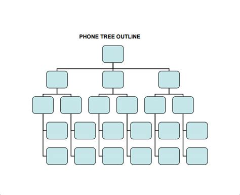 telephone tree template printable phone tree template 15 free word excel pdf