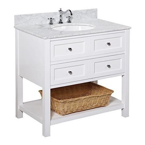 36 Inch Bathroom Vanity With Drawers New Yorker 36 Inch Bathroom Vanity Carrara White Italian Carrara Marble Countertop White