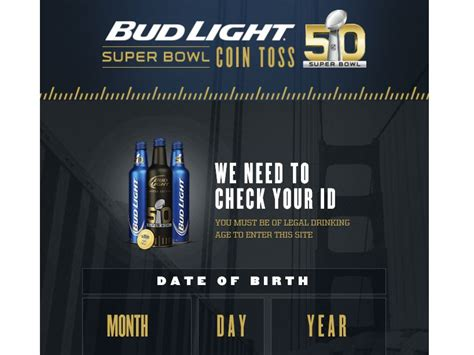 Bud Light Sweepstakes - the bud light super bowl coin toss sweepstakes sweepstakes fanatics