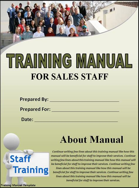 training manual template word excel pdf