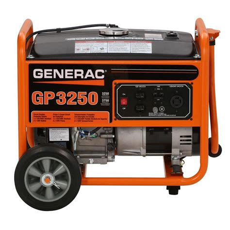 generac 3 250 watt gasoline powered portable generator