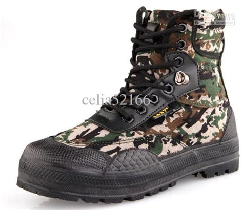 camouflage color army shoes canvas shoes boots