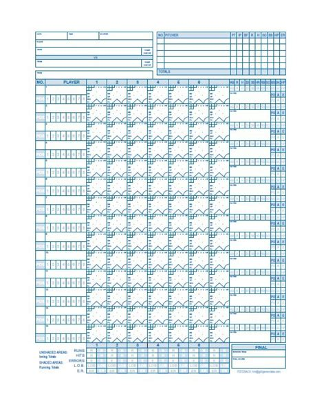 Baseball Scorecard Excel Template by 30 Printable Baseball Scoresheet Scorecard Templates