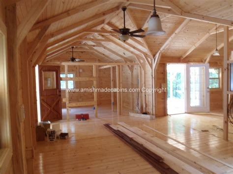 pics inside 14x32 house amish made cabins amish made cabins cabin kits log