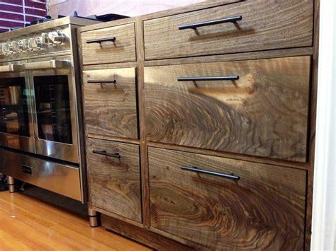 black walnut kitchen cabinets   work  kitchen