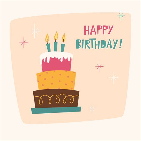 Happy Birthday Card Template Photoshop by Happy Birthday Card With Cake Photoshop Vectors
