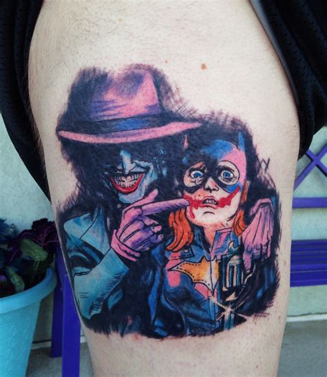 batgirl tattoo varient joker batgirl comic book cover dc comics by