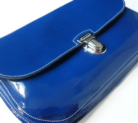 Clutch Royal Green royal blue patent leather clutch ysl name card holder