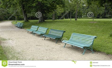 public park benches benches in a public park royalty free stock photo image