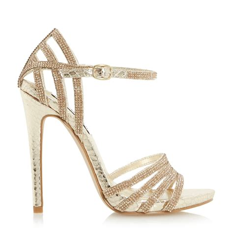 steve madden strappy sandals steve madden cagged diamante strappy high heel sandal in