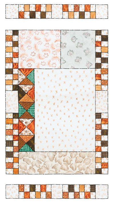 Patchwork Wall Hanging Patterns - how to make fall patchwork quilted wall hanging pattern