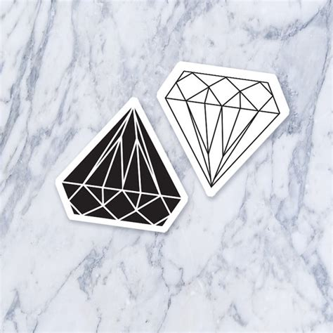 tattoo diamond black and white items similar to white and black diamonds fake temporary
