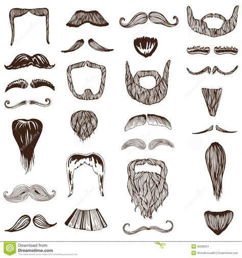 moustache stock images royalty free images vectors set of moustache mustache stock vector illustration of trim illustration 35298251