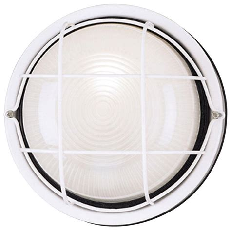 Light Fixture Lenses Westinghouse 1 Light White Steel Exterior Wall Fixture With White Glass Lens 6783600 The Home