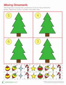 christmas ornament counting worksheet education com