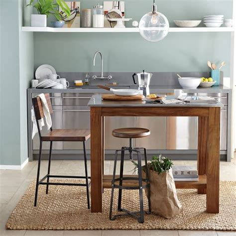 kitchen island tables products i love pinterest rustic kitchen island west elm