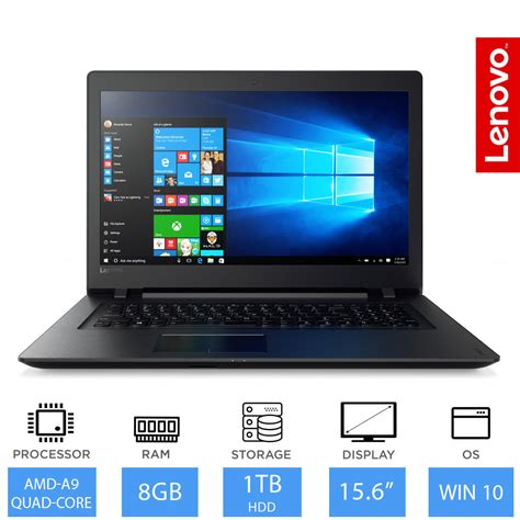 Laptop Lenovo Amd 9 lenovo v110 15 6 quot windows 10 laptop amd a9 9410 2 9ghz cpu 8gb ram 1tb hdd ebay