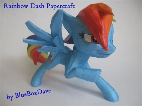 Rainbow Dash Papercraft - rainbow dash papercraft by blueboxdave on deviantart