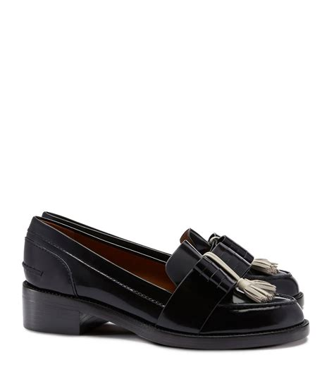 loafer black burch hyde loafer in black black knot black knot lyst