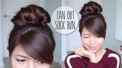 hairstyles everyday updos everyday fan sock bun updo hairstyle for long hair