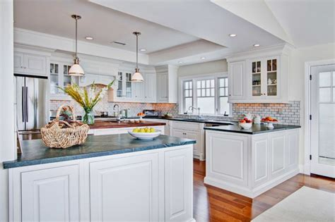 Colonial Coastal Kitchen Traditional Kitchen san diego by Jackson Design & Remodeling
