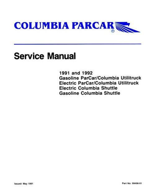 pu  gas elec service manual   vintage golf cart parts