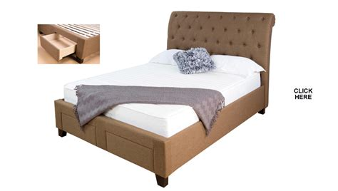 queen bed drawers lotus upholstered queen bed with 2 foot end drawers
