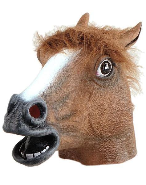fake horse head classic rubber horse mask adults full head horse mask