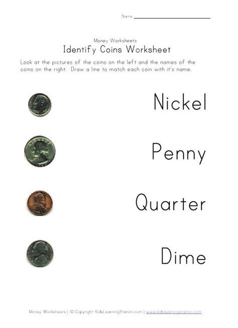 coin names color worksheet math money worksheets