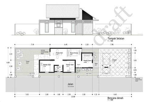 denah rumah ukuran  satu lantai desain rumah  ruang usaha ruko rukan  lantai pt