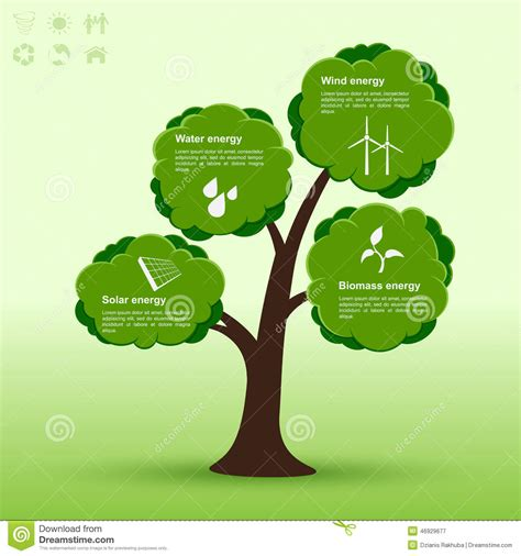 Eco Tree Infographic Stock Vector Illustration Of Info 46929677 Family Tree Template Info Graphics