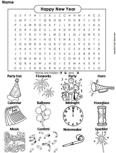 new year activities ks3 new years word search by sciencespot teaching resources