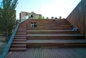 Landscape Stairs Design Terraced Landscape With Stairs Green Design Of Wood Clad Environmental In Spain