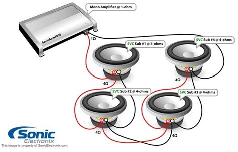 dual 1 ohm wiring diagram subwoofer wiring diagram dual 1 ohm wiring diagram and schematic diagram images