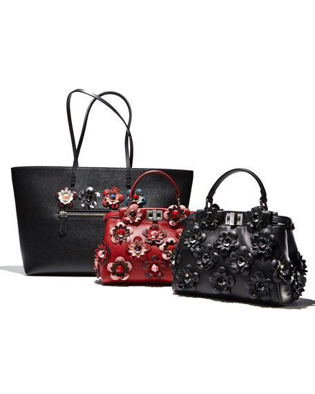 Pelunasan Fendi Mini Btw Flower fendi peekaboo mini allover flower satchel bag