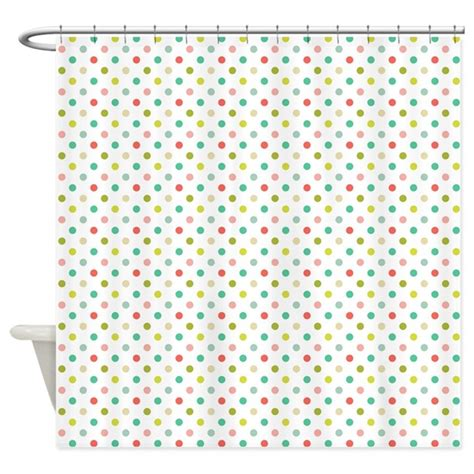 dots shower curtain tiny little colorful polka dots shower curtain by nicholsco