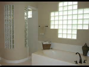 curved shower wall with glass blocks