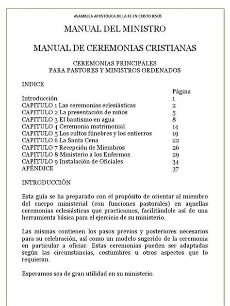 escuela modelo guia ministerio cristiano manual del ministro