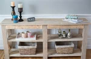 Entryway Table With Drawers Diy Shabby Chic Pallet Buffet And Sofa Table 101 Pallets